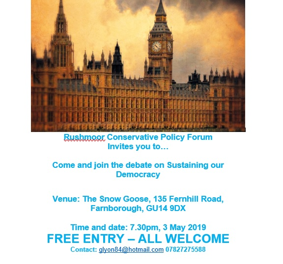 RUSHMOOR CONSERVATIVE POLICY FORUM